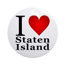I Love Staten Island Ornament (Round)