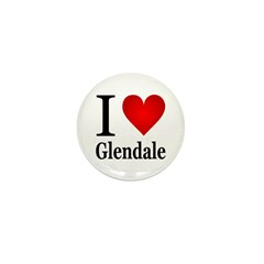 I Love Glendale Mini Button (10 pack)