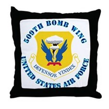 509th Bomb Wing with Text Throw Pillow
