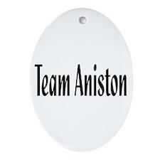 Team Aniston Oval Ornament