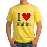Malibu Mens Yellow T-shirts