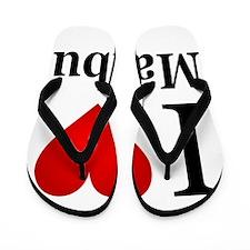 I Love Malibu Flip Flops