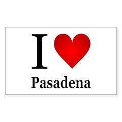 I Love Pasadena Decal