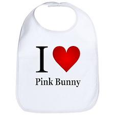 I Love Pink Bunny Bib
