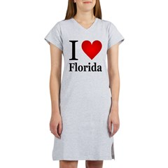 I Love Florida Women's Nightshirt