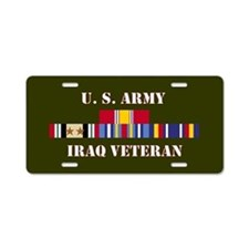 Army Iraq Vet 2 Star Aluminum License Plate