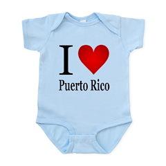 I Love Puerto Rico Infant Bodysuit