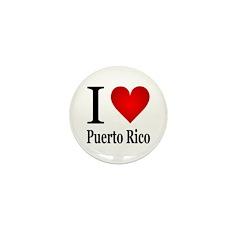 I Love Puerto Rico Mini Button (100 pack)