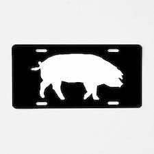 Pig SILHOUETTE Aluminum License Plate
