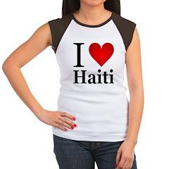 I Love Haiti Women's Cap Sleeve T-Shirt