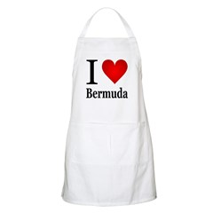 I Love Bermuda Apron