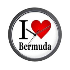 I Love Bermuda Wall Clock