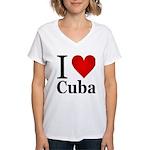I Love Cuba Women's V-Neck T-Shirt