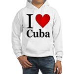 I Love Cuba Hooded Sweatshirt
