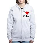 I Love Cuba Women's Zip Hoodie