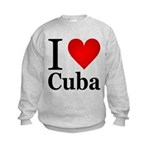 I Love Cuba Kids Sweatshirt