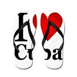 I Love Cuba Flip Flops
