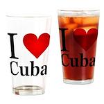 I Love Cuba Drinking Glass
