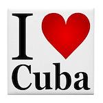 I Love Cuba Tile Coaster