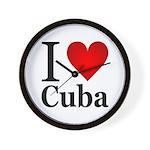I Love Cuba Wall Clock