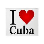 I Love Cuba Throw Blanket