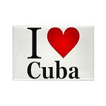 I Love Cuba Rectangle Magnet (100 pack)