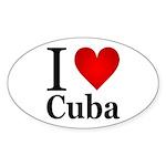 I Love Cuba Sticker (Oval 10 pk)
