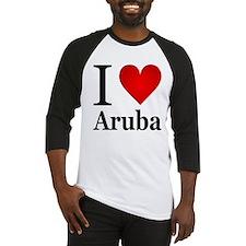I Love Aruba Baseball Jersey