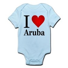 I Love Aruba Infant Bodysuit