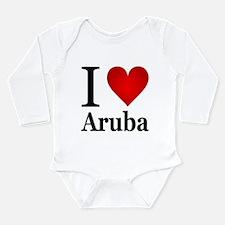 I Love Aruba Onesie Romper Suit