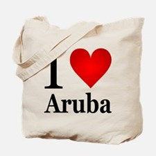 I Love Aruba Tote Bag