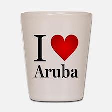 I Love Aruba Shot Glass