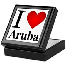 I Love Aruba Keepsake Box