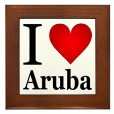 I Love Aruba Framed Tile