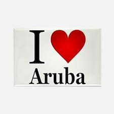 I Love Aruba Rectangle Magnet