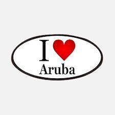 I Love Aruba Patches