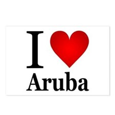I Love Aruba Postcards (Package of 8)