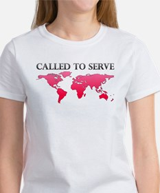Called To Serve Pink Tee