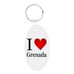 I Love Grenada Keychains