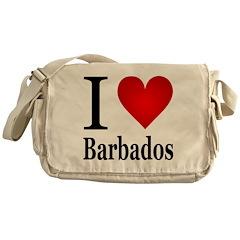 I Love Barbados Messenger Bag