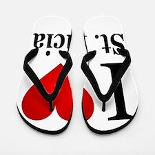 I Love St. Lucia Flip Flops