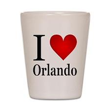 I Love Orlando Shot Glass