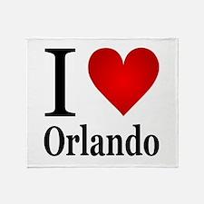 I Love Orlando Throw Blanket