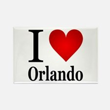I Love Orlando Rectangle Magnet
