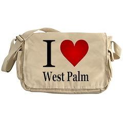 I Love West Palm Messenger Bag