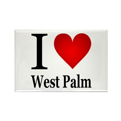 I Love West Palm Rectangle Magnet (100 pack)