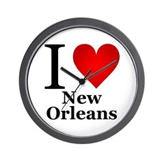 I Love New Orleans Wall Clock