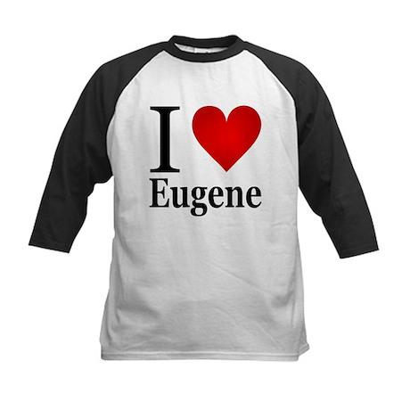 I Love Eugene Kids Baseball Jersey