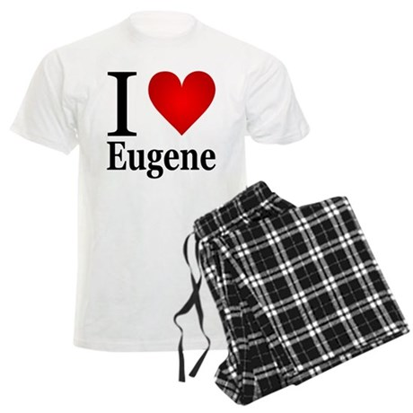 I Love Eugene Men's Light Pajamas