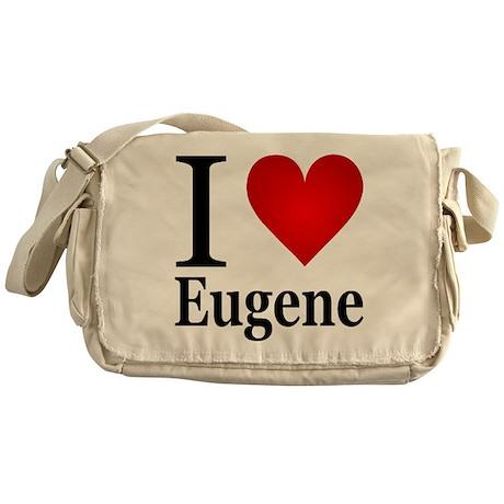 I Love Eugene Messenger Bag